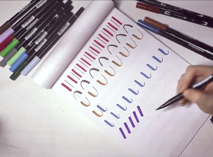 mejores rotuladores colores lettering