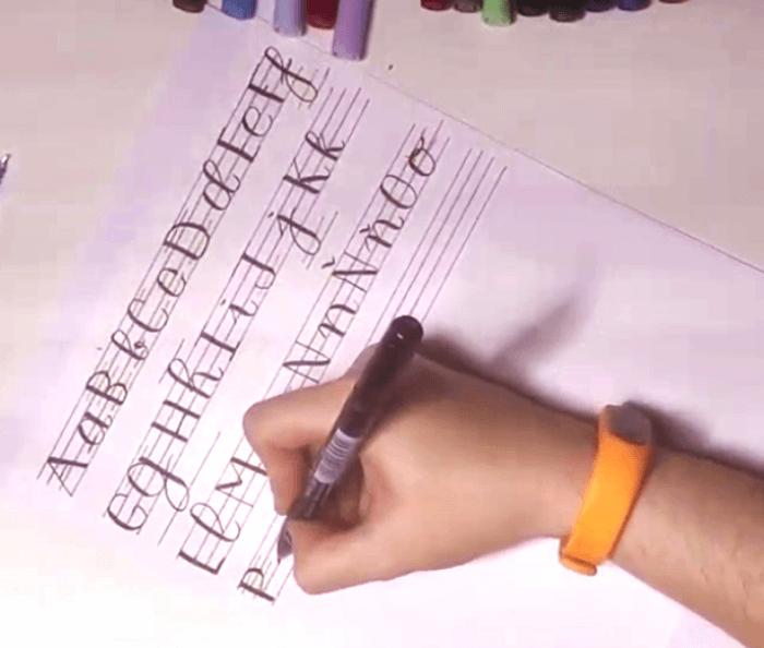 rotuladores dibujar lettering